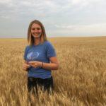 Sarah Hoffmann in wheat field